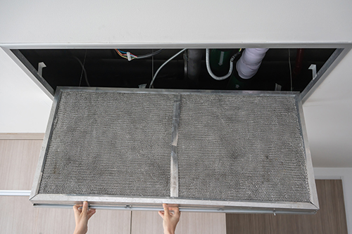 air conditioning filter in ceiling